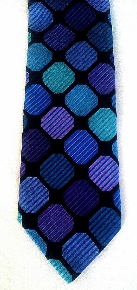 Robert Talbott 'Best of Class'- Black/Blue/Purple Geometric Woven Silk Tie