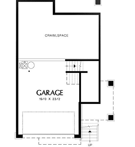 Multi-level Craftsman Plan - 69296AM | 2nd Floor Master Suite, CAD Available, Craftsman, Den-Office-Library-Study, Northwest, PDF, Sloping Lot, Split Level | Architectural Designs