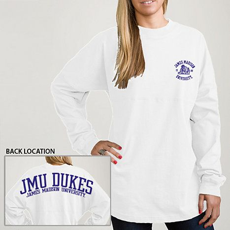 Product: James Madison University Women's Ra Ra Football Long Sleeve T-Shirt
