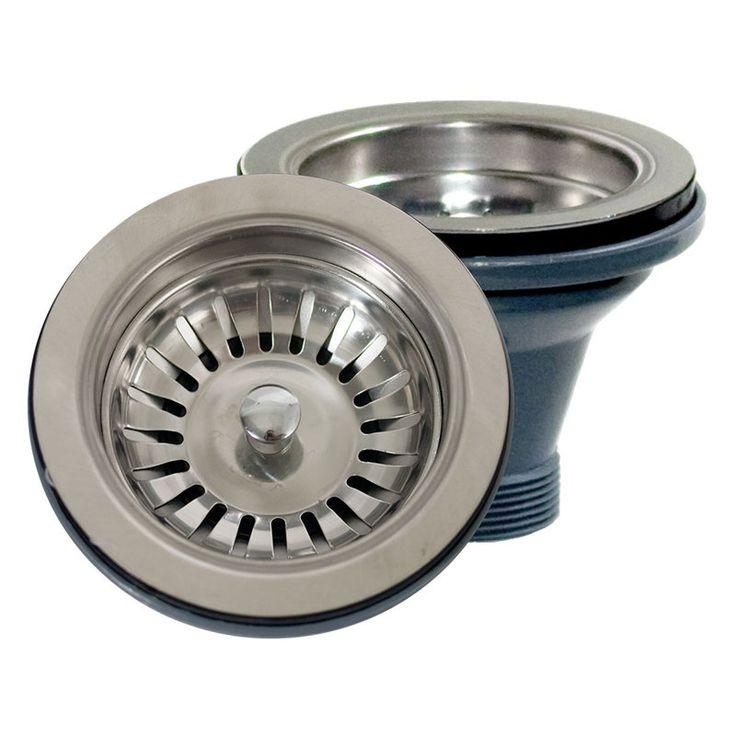 Nantucket Sinks Basket Strainer Kitchen Drain for Fireclay Sinks - NS35L-EXT