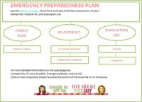 Download your own free emergency preparedness plan! Family plan, 72 hour kit, and evacuation list!