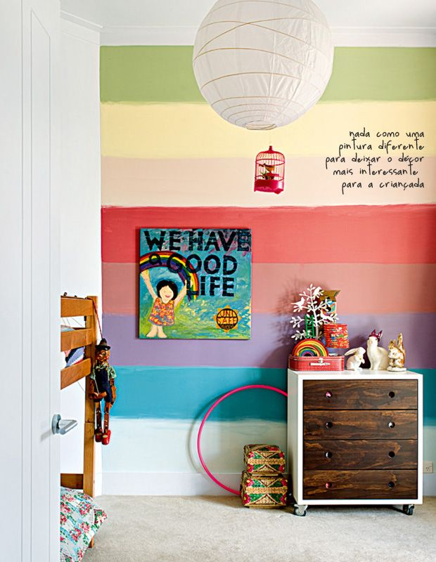 rainbow wall | kid's bedroom #decor #quartoinfantil