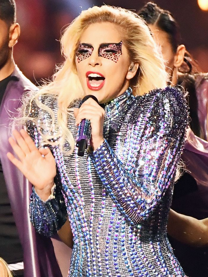 Lady Gaga's Super Bowl Beauty Transformation Deserves a Second Look via @ByrdieBeauty