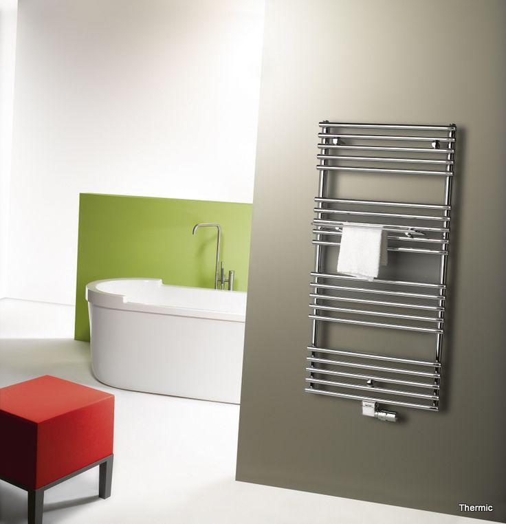 Badkamerradiator Thermic. Van Wanrooij. Bekijk de collectie op: http://vanwanrooijtiel.nl/inspiratie/badkamer-ideeen/badkamer-onderdelen/badkamerradiator/