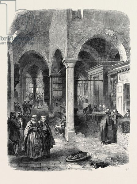 The Bazaar at Constantinople Turkey Istanbul 1869