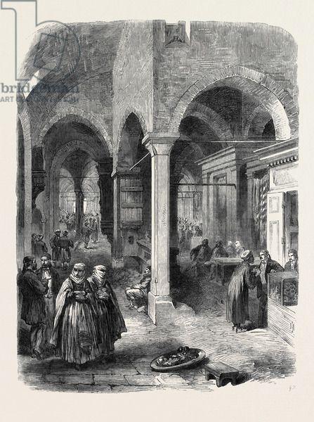 The Bazaar at Constantinople Turkey Istanbul 1869