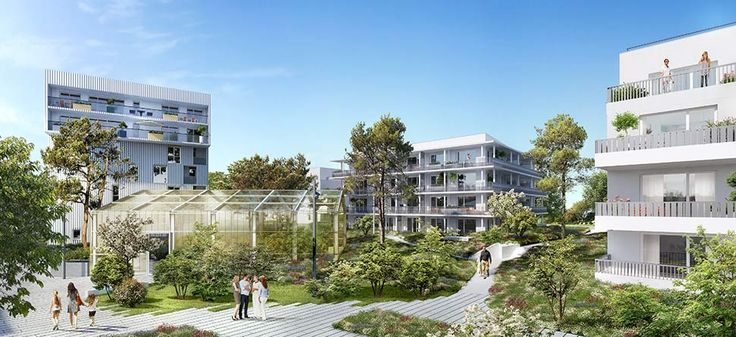 Programme immobilier neuf LADERA à #Bordeaux. Un lieu à la fois spacieux et intime, doté de jardins et d'espaces communs façonnés par de belles allées paysagères ainsi qu'une serre horticole…