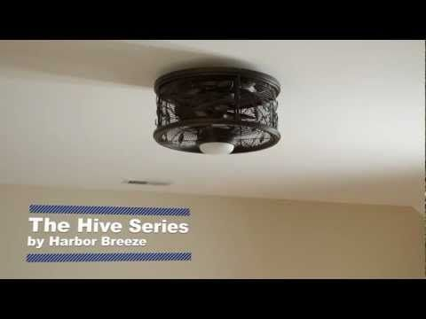 Introducing the Hive Series by Harbor Breeze. Unlike typical ceiling fans, Hive fans have concealed blades and mount flush to the ceiling so they take up less space, making them perfect for small rooms, or rooms with low ceilings.