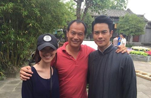 """Grace Chan visited Kevin Cheng on the set of """"Tai Chi Master"""" at Hengdian World Studios."""