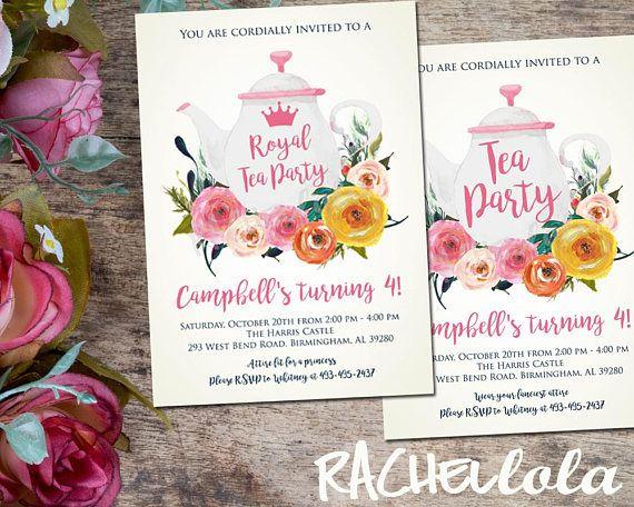 Best 25+ Tea party invitations ideas on Pinterest Afternoon tea - tea party invitation