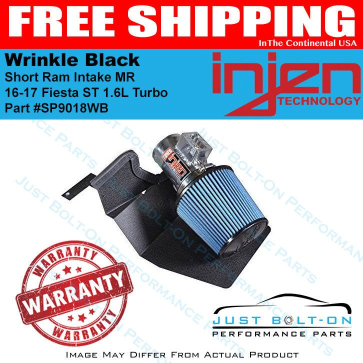 Details About Injen For 16 17 Fiesta St 1 6l Turbo Wrinkle Black