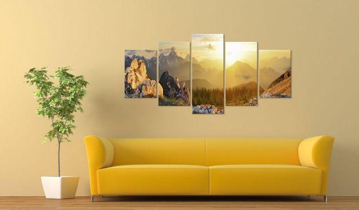 Obraz na ścianę Powitanie słońca - Góry - Pejzaże - Obrazy