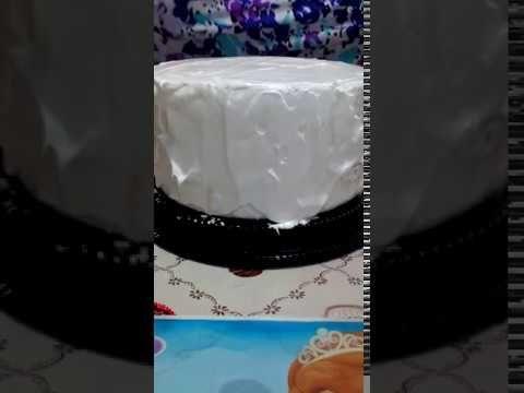 Como envelopar bolo com papel arroz - YouTube