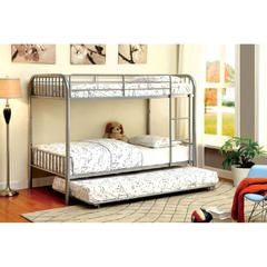 Rainbow Silver Kids Twin over Twin Bunk Bed with Trundle - Sears
