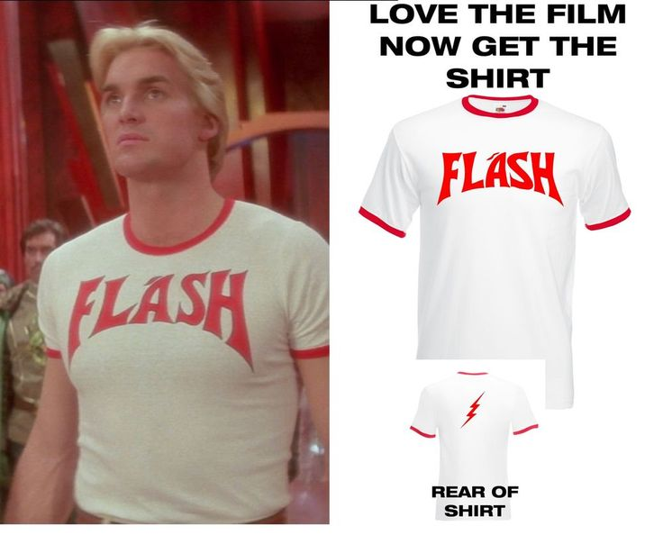 Flash Gordon Inspired T Shirt Retro 80s Film T-Shirt Fancy Dress Novelty Cosplay