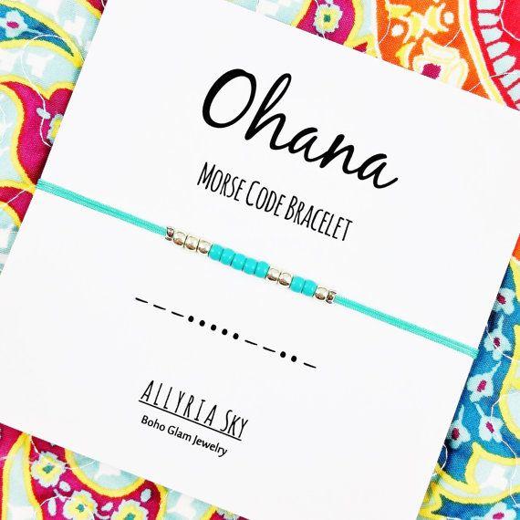 Ohana Morse Code Friendship Bracelet  Morse Code by AllyriaSky