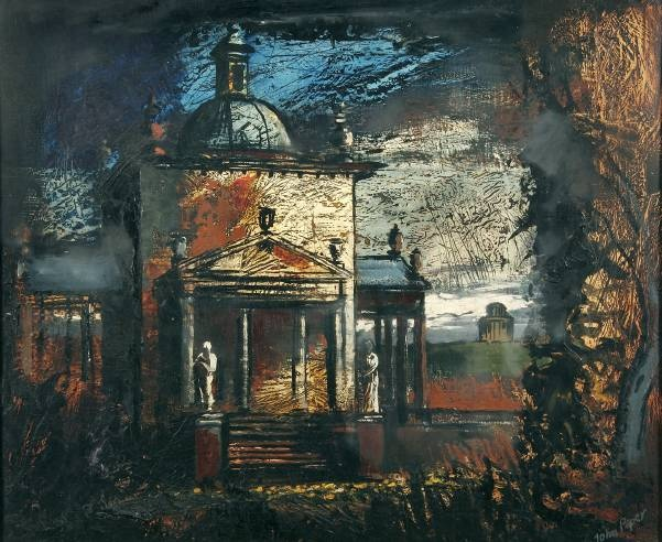 Great colours and textures in John Piper's depiction of Castle Howard, North Yorkshire. The painting is in the fine art collection of Norfolk Museums and Archaeology Service.