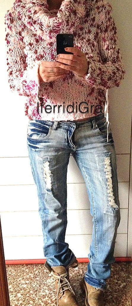 Maglione lana . www.iferridiGra.it
