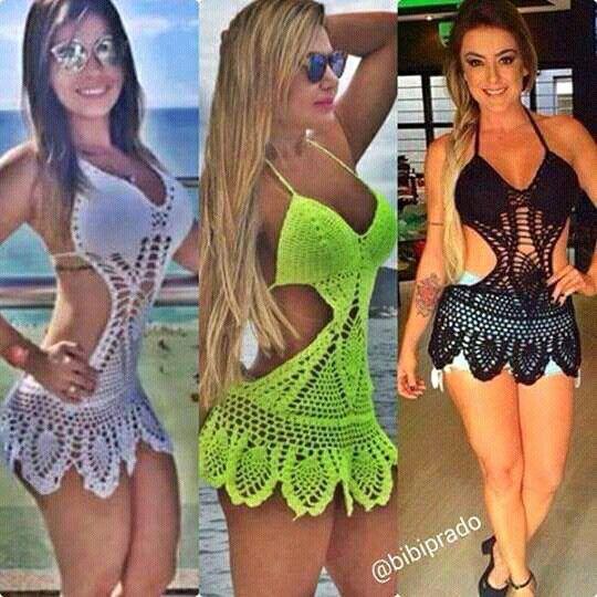 Crocheted Swim Suits