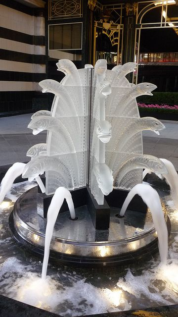 Lalique Fountain: The Savoy Hotel, London