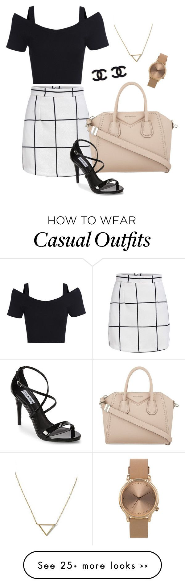 """""""#casual dinner"""" by daphnewynn on Polyvore featuring Givenchy, Steve Madden, Banana Republic and Topshop"""