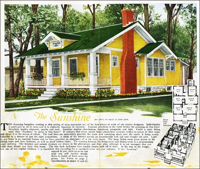 The Sunshine Kit House Floor Plan Made By The Aladdin