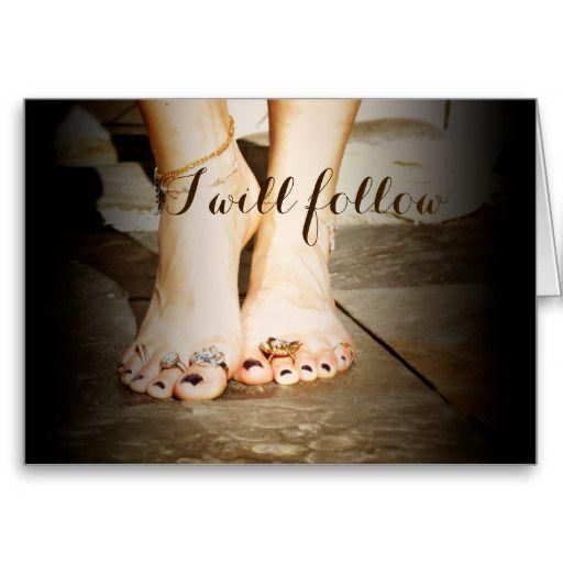 "Innocence & Beauty series by Rachel Jacobs, ""I will follow"""