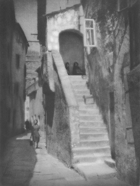 Tadeusz Wański collection / Chorwacja / Senj / Uliczka ze schodami / 40 x 30 cm, bromolej