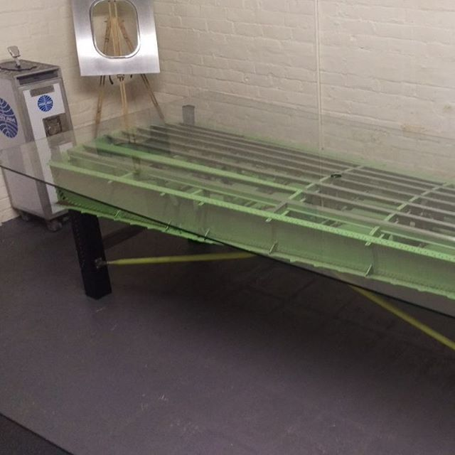 10 seater table made from an amazing Handley Page jetstream wing. G-AXEL. Repainted detailed and finished with a giant 1 piece 3m X 1.5m glass top. Available for sale and delivery. #aircraftfurniture #aviationfurniture #bespoke #designer #table #furniture #interiors #engineer #fabricated #custom #luxury #avgeek #wing #bestineurope #British #pilot #tools #workshop #architecture #decor #function - Architecture and Home Decor - Bedroom - Bathroom - Kitchen And Living Room Interior Design…