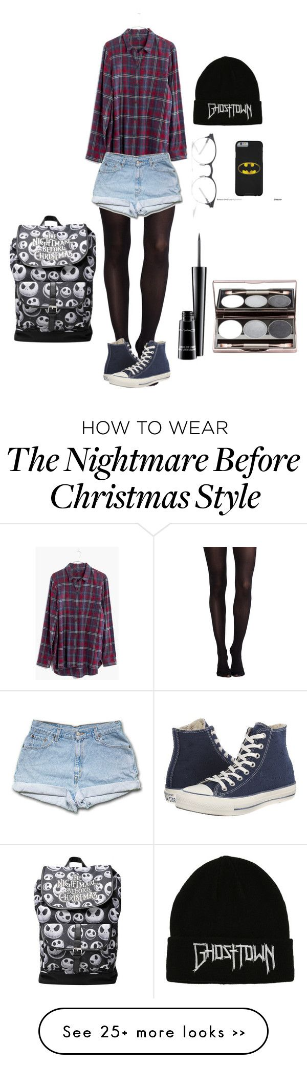 Grundge to the bone by onedelieber on Polyvore featuring mode, SPANX, Madewell, Converse, Mykita en MAC Cosmetics