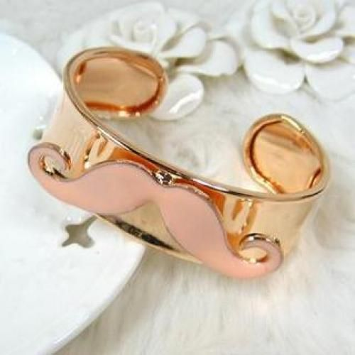 Mustache Bangle Beige - One Size