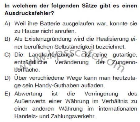 ÖABT Almanca Deneme Sınavı Online Çöz - Online KPSS