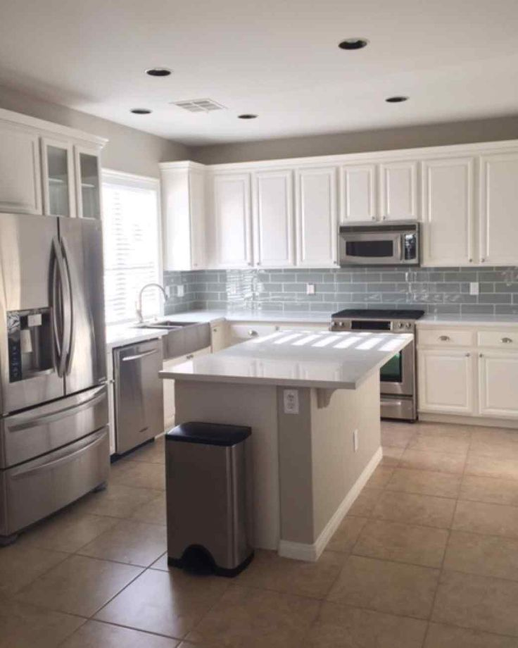Off White Kitchen Cabinets With White Subway Tile: Kitchen Makeover: From Dreary And Dated To Big, Bright