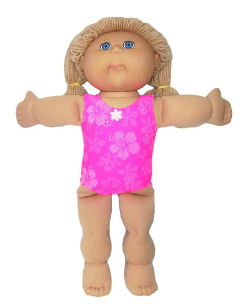 Any Cabbage Patch doll would love to wear this One Piece Swim Suit. Add a motif or leave it plain…either way it looks great and it really is quick and easy to sew! And with every PDF doll clothes pattern you get 12 months access to free online video tutorials where I show you step-by-step how to make this cute swimsuit.