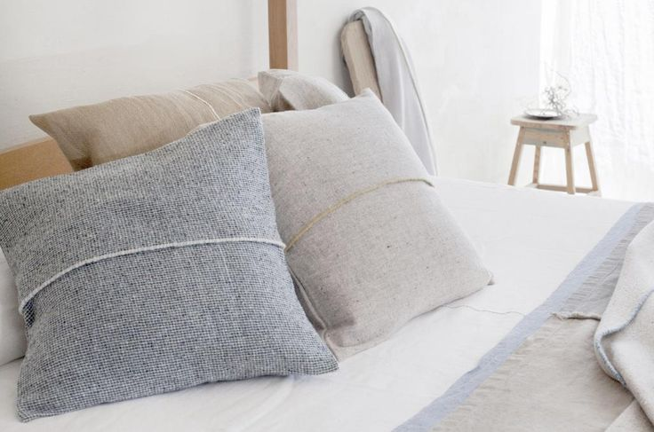 Eco wool handmade cushions by Teixidors