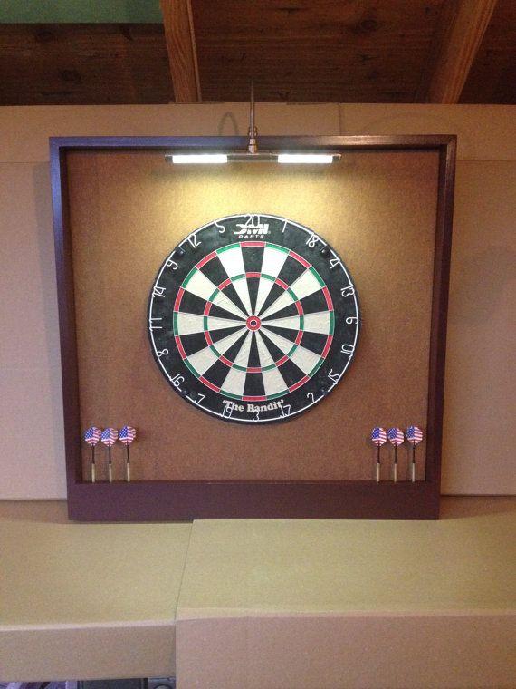 OVERSIZED 32 x 32 LED Lighted Copper Felt  Mahogany