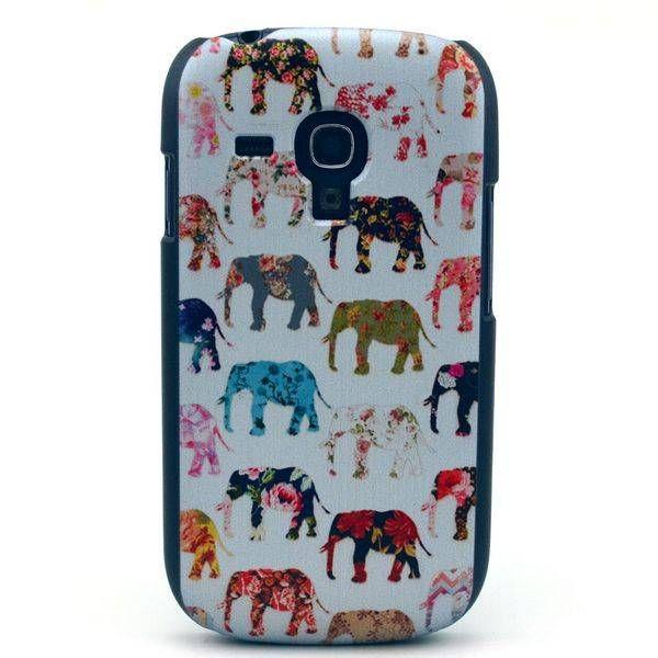 Kleurrijke olifantjes hoes voor Samsung Galaxy S3 mini