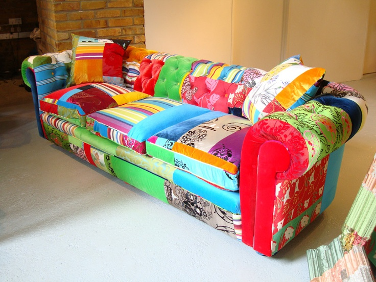 How fun is this couch! :) I think it would be great in my