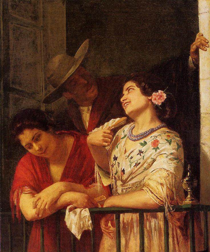 The Flirtation A Balcony In Seville
