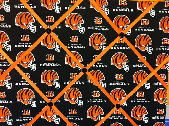Cincinnati Bengals NFL Photo Board by rachaelscreations on Etsy, $20.00