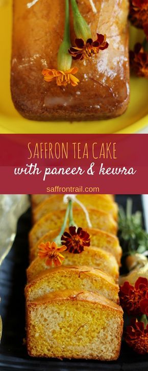 #Christmas special #recipes - A festive tea cake with flavours of saffron - goes wonderfully with a cup of coffee and tea. No eggs used. #desserts #holidayrecipes #xmas