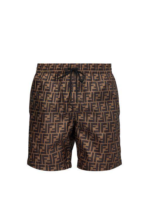 44ebe4010d51f FENDI FF-printed swim shorts. #fendi #cloth | Clothes in 2019 ...