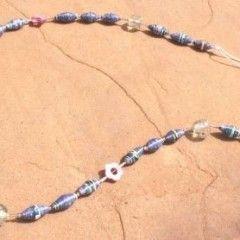 Paper Bead Trinket Necklaces