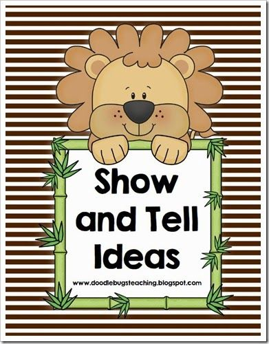 Show and Tell Info and Topics - Schedule your whole year with these 18 fun ideas Great for kindergarten or first grade especially!