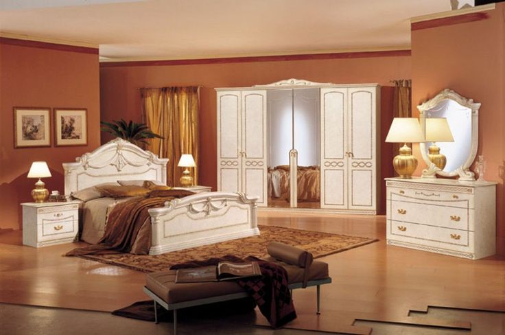 Modrest Rossella Italian Traditional Complete Bedroom Set #traditionalbedroom