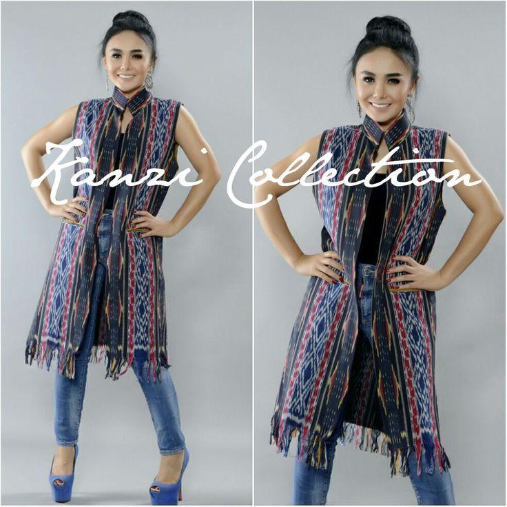 Handwoven Fashionable Short Ikat vest