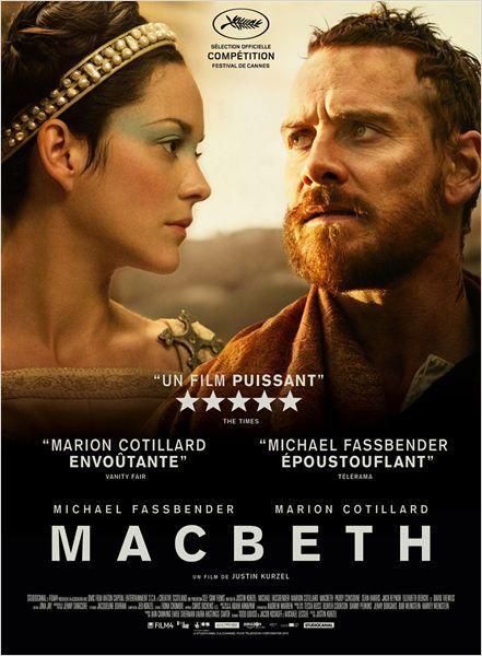 Macbeth avec Michael Fassbender et Marion Cotillard Retrouvez ma chronique sur mon blog!