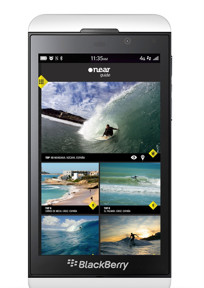 BLACKBERRY Z10 SURF APP - SPAINCREATIVE - can't decide between the Z10 or the Q10 but this pictures makes me want it!