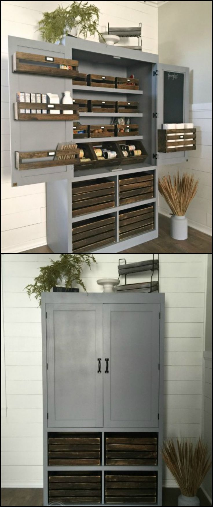 25 best ideas about small kitchen pantry on pinterest for Small built in kitchen
