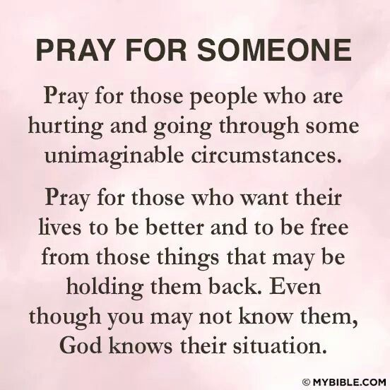 Praying for someone else is such a selfless act that reaps you blessings and peace.